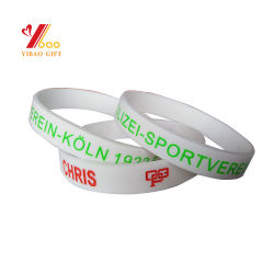 Hot Sell Color Customize Silicone Food Grade 100% Silicone hided Silicon Wristband Silicon Bracelet for Promotional Gift (YB-SW-112)
