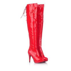 Over-Knee высокой ботинки зимние эластичную Ткань стретч бедро высокой полосой загрузки