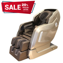 3D intelligent avec Zero Gravity fauteuil de massage shiatsu