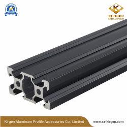 2040 V slot de perfil de alumínio anodizado preto