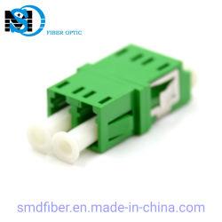 플랜지 없는 단일 모드 LC/APC 이중 플라스틱 광섬유 접합기