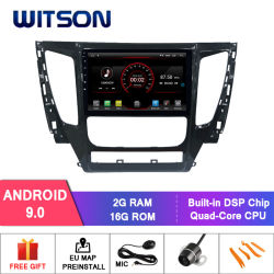三菱Pajero 2017年のWitsonのクォードのコアアンドロイド9.0車DVD GPSプレーヤー