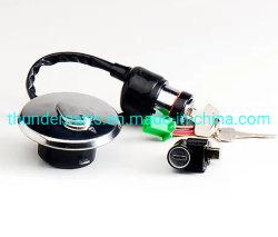 Honda 또는 Suzuki/YAMAHA/Bajaj 기관자전차를 위한 기관자전차 점화 손잡이 스위치 키 자물쇠 세트