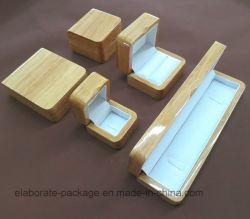 Nuevo diseño satinado barniz pequeños joyeros de madera maciza lacado