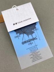طباعة بالألوان على الوجهين ورق خيط معلق يحمل ملصق قطع تعليق العلامة