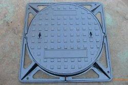 غطاء فتحة حديد قنوات الصرف الصحي للخدمة الشاقة مع الإطار فتحة مصبوب رملي