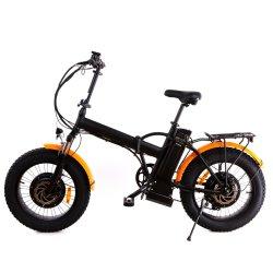 20-дюймовый жир шины 500 Вт электрический Бич E-велосипед складной снег велосипеды с заднее водило для установки в стойку