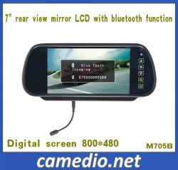 7 polegadas Vista Traseira do Monitor do Espelho Automático com Bluetooth