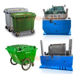 Benutzerdefinierte große Industrial120L 240L Kunststoff-Mülleimer-Spritzform, 660L Kunststoff-Mülleimer-Spritzform