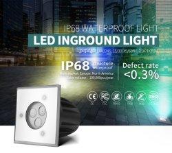 DMX512 RGB コントロール LED ライト IP68 防水 SS316L LED アース LED ライト