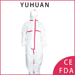 Ropa de médicos de aislamiento de PPE bata desechable traje de protección Anti Virus ropa desechable, Coveall