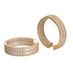 Hochzeits-Ohrring-Schmucksachengesetzte Kristallzircon-Form-Band-Ohrringe