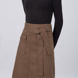 2020명 여름 최고 판매 브라운 단단한 높은 허리 우연한 에이라인 여자 치마