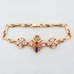 Einfaches Design Imitation Schmuck Gold Farbe Armband mit 14K 18K Rhodium