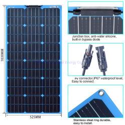 Semi-Flexible модуль солнечной энергии 20W 80W 100 Вт 120W гибкие Sunpower ETFE Солнечная панель крыши производителем солнечных батарей