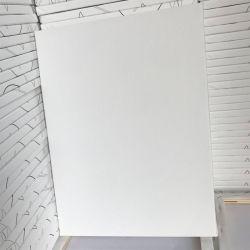 قطر صاف [لينن] [وهيت سقور] إمتداد نوع خيش, مستديرة فنّان نوع خيش [أيل بينتينغ كنفس] صنوبر [بيكتثر فرم]