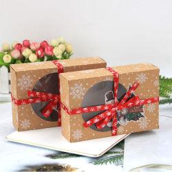 Coffrets cadeaux de Noël Noël case Cookies avec fenêtre