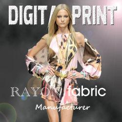 Qualität gedrucktes Rayon für Kleid-Gewebe
