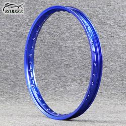 Roues Borske moto hors route 6063 6061 l'aluminium Rim 16 17 18 Inch Blue Motorcross roues Jante de roue