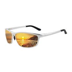 Gafas de sol polarizadas del bastidor de aluminio magnesio gafas de sol de la mens