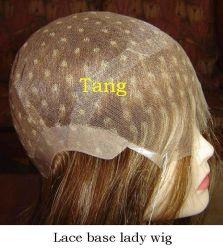 Remy Haar-Hand gebundene volle Spitze-Unterseiten-Dame Wig