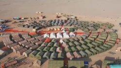 La coque rigide utilisé toile parti d'hiver tente militaire