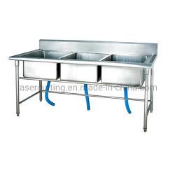 Chapa de acero inoxidable de la fábrica de fabricación OEM de suministro de alimentos comerciales Restaurante fregadero