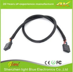 USB 2.0 un maschio al cavo femminile della scheda madre dell'intestazione di Pin di Du Pont 5
