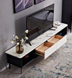 Moderner zeitgenössischer Entwurfs-Möbel-Wohnzimmer-Wand-Schrank-Konsole Fernsehapparat-Standplatz