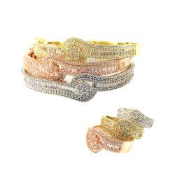 Form-Schmucksachengrosser quadratischer Rhinestone-Armband-Armband-VergoldungRhodium