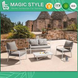 Im FreienAluminum Sofa Set mit Cushion Garten Single Sofa Modern Coffee Table Patio Furniture Hotel Project Furniture