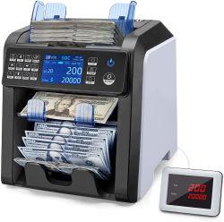 Valor de moneda múltiples Doble contador CONTADOR contador de la Cei Proyecto de Ley de Dinero en efectivo de la máquina de escrutinio