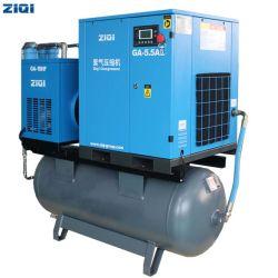 Fonctionnement simple à prix abordable de haute qualité 5,5 Kw 1,0 MPa Mouted compact unique vis compresseur d'air pour la découpe laser