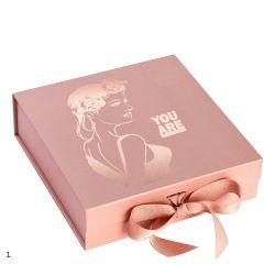 1 profumo/Macaron/candela impaccanti magnetici/cioccolato/tè/pattino/vestiti/abito del contenitore di regalo del cartone della damigella d'onore nera dentellare rigida su ordinazione all'ingrosso di natale bianco