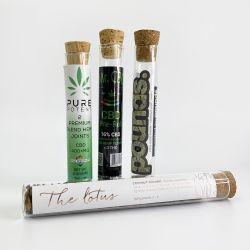 Cannabis Hemp용 유리 테스트 튜브 유리 바이알 Dob 튜브 코크와 담배 시거 프리 롤 시드 알약 등