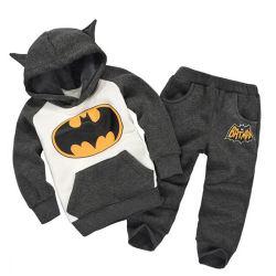 2pcs conjuntos de bebé invierno al por mayor trajes de algodón Rosa/Balck para niños ropa casual, los muchachos se adapte a los chicos se adaptan a