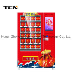 China-Lieferanten-Screen-Verkaufäutomat für glücklichen Beutel