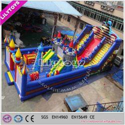 Matériau PVC populaire enfants Parc d'Attractions gonflables sans plomb