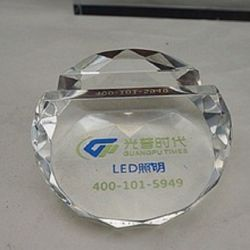 Decorazione a cristallo di promozione del supporto del biglietto da visita del Paperweight (Ks14060)