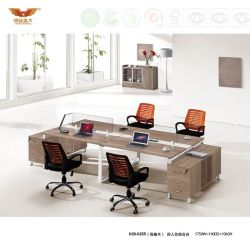 Conception ouverte de l'écran de station de travail de bureau en bois avec le Cabinet (H20-0255)