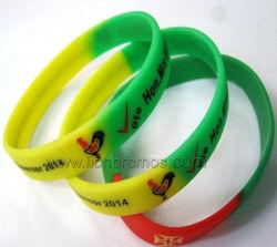 Changement de couleur de la rampe de gradient Magnifique bracelet en silicone