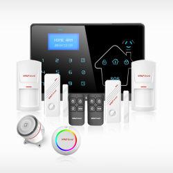 433MHz ワイヤレス有線 GSM+PSTN+WiFi + GPRS アラームシステム、 SMS SIM カード搭載