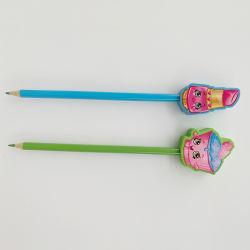 개인화된 귀여운 디저트 지우개 상단 색깔 연필