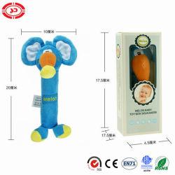 Bébé éléphant de la qualité de jouets en peluche cadeau Bb Squeaker farci