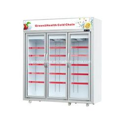 Supermarkt-Glastür/Bildschirmanzeige/Brust/Eiscreme/tief/Schaukasten/aufrecht Gefriermaschine
