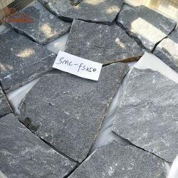 Naturel noir de l'ardoise en brique de pierre de forme libre