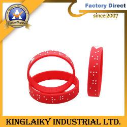 Bracelet en silicone/bracelet avec Braille pour cadeau promotionnel