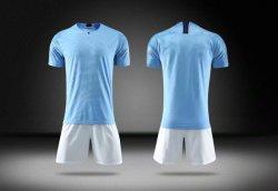 2019 Mann-blaue Fußball-Uniform-Kind-Größen-Fußball-T-Shirts und Kurzschluss