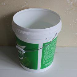 Venta Directa de Fábrica de pintura personalizada 16 litros de cubos de plástico negro con asa y tapa