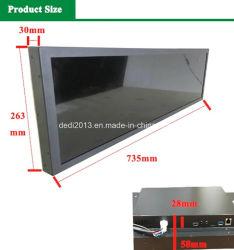 전시를 광고하는 바 LCD가 29inch 전문가 MP4 영상 선수에 의하여 기지개했다
